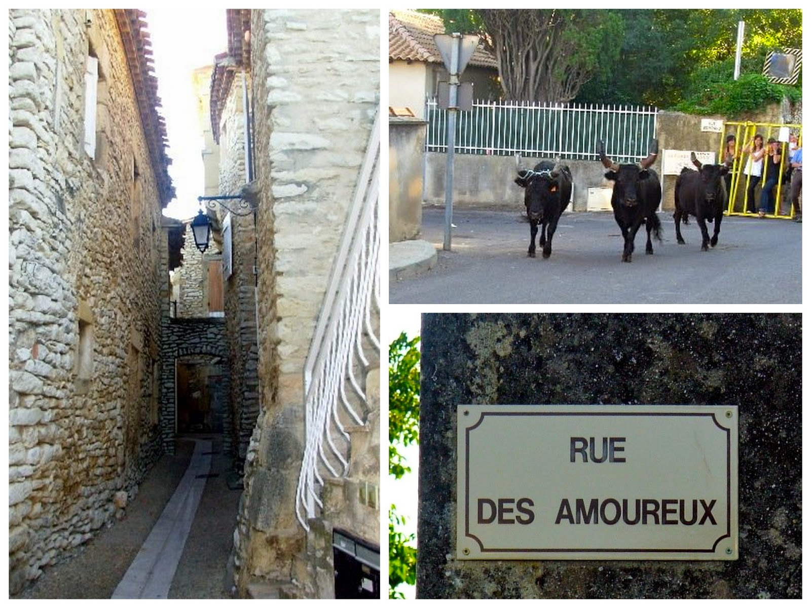 Village scenes in the south of France
