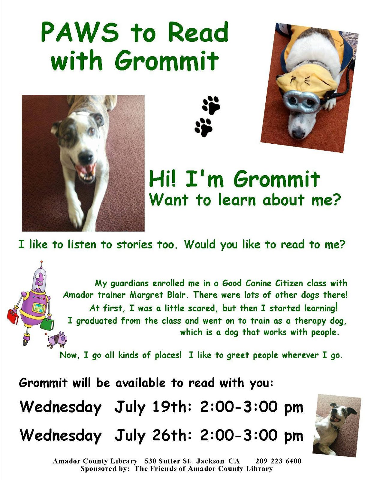 Read with Grommit - July 26