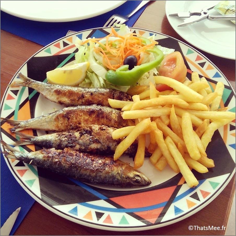 Menorca Minorque Baleares Espagne vacances holidays sardines a la plancha grillées Punta Prima restaurant