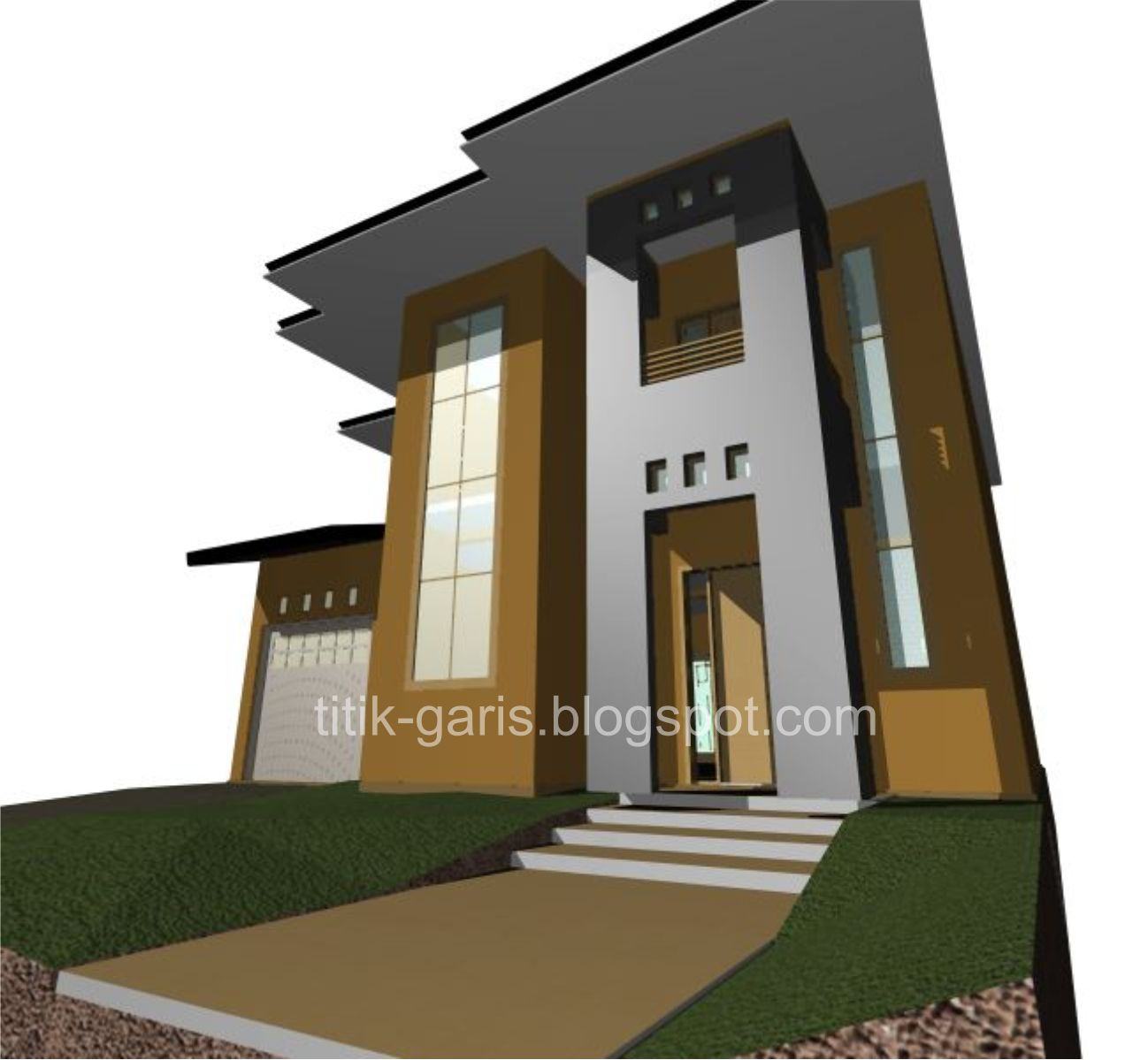 desain rumah 2 lantai di atas lahan 150 m2 10x15m