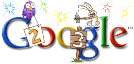New Year 2003 Google Doodle