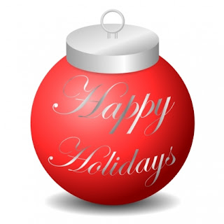 Christmas happy holidays ornament clip art picture with happy holidays lettering