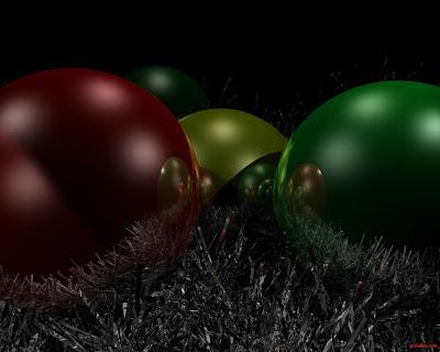 Esfera de navidad roja y verde - Fondo de pantalla