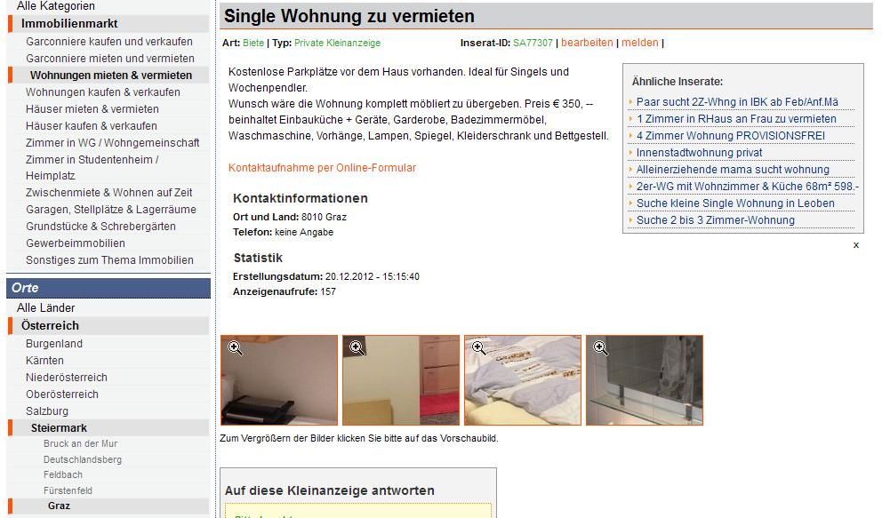 graz single wohnung Detmold