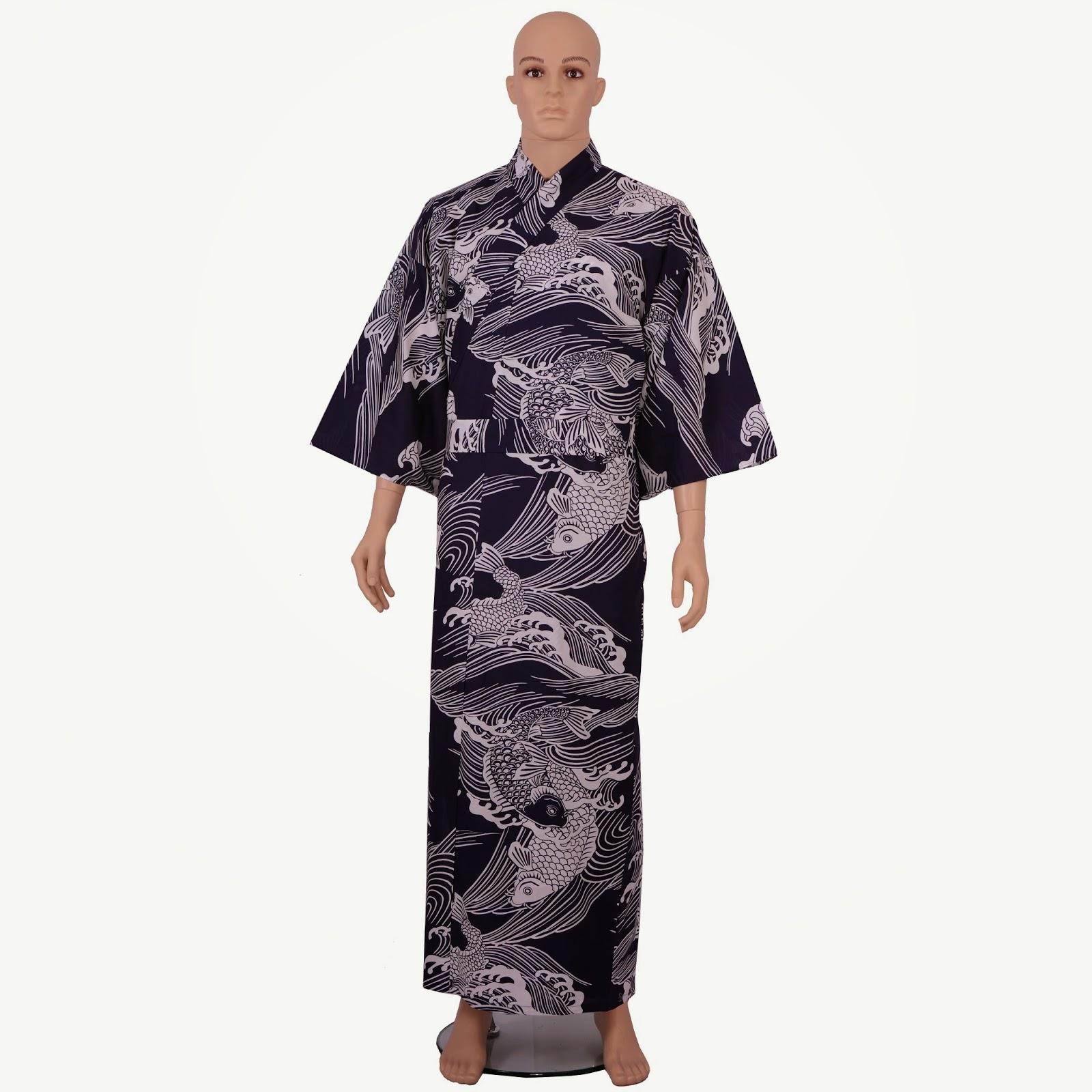 Koi cotton kimono
