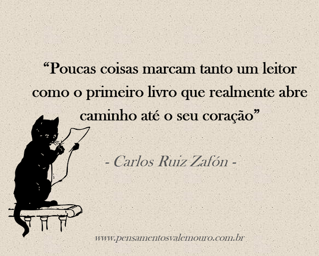 Senteces, Dia do leitor, Carlos Ruiz, Zafón, Vanessa Vieira, Blog Pensamentos Valem Ouro