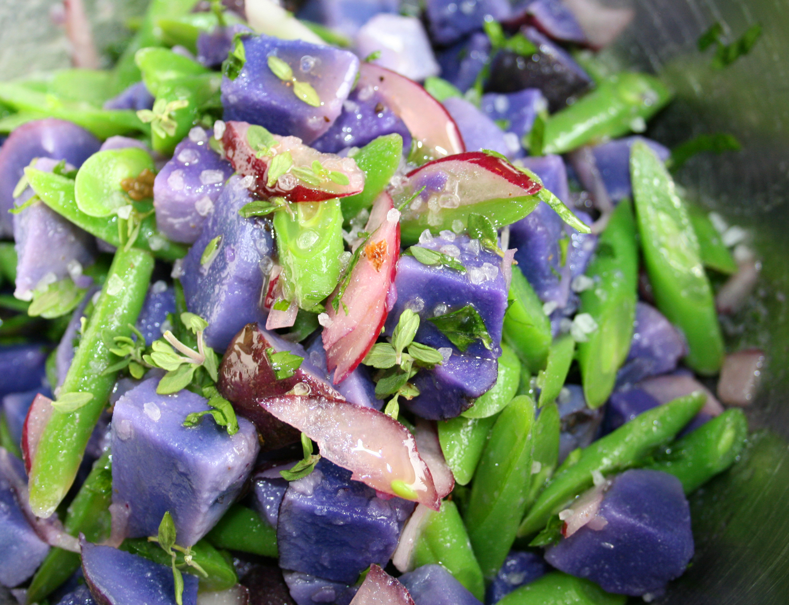 ... prep kit green bean and purple potato salad green beans purple potato