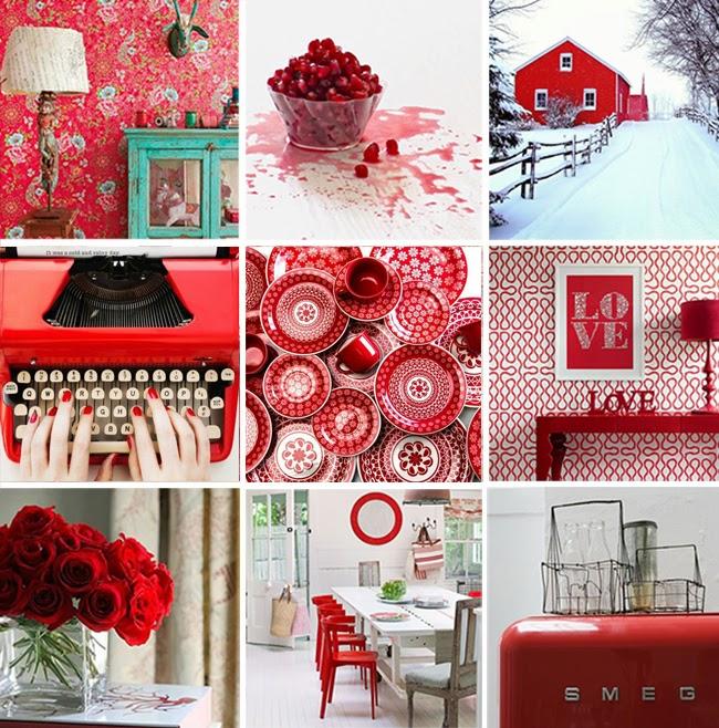 decoración en rojo. homepersonalshopper RED DESIGN