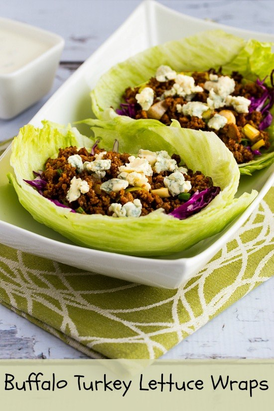 Buffalo Turkey Lettuce Wraps from Kalyn's Kitchen . (Low-Carb, Gluten ...