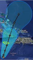 Tropischer Sturm SANDY - Sturmwarnung auf Jamaika, Sandy, Karibik, Hurrikansaison 2012, Atlantische Hurrikansaison, Vorhersage Forecast Prognose, Jamaika, Kuba, Dominikanische Republik, Bahamas, aktuell, Oktober, 2012, Sturmwarnung,