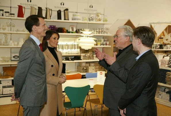 Prince Joachim of Denmark and his wife Princess Marie visited Harpa Concert Hall and Conference Centre earlier today.
