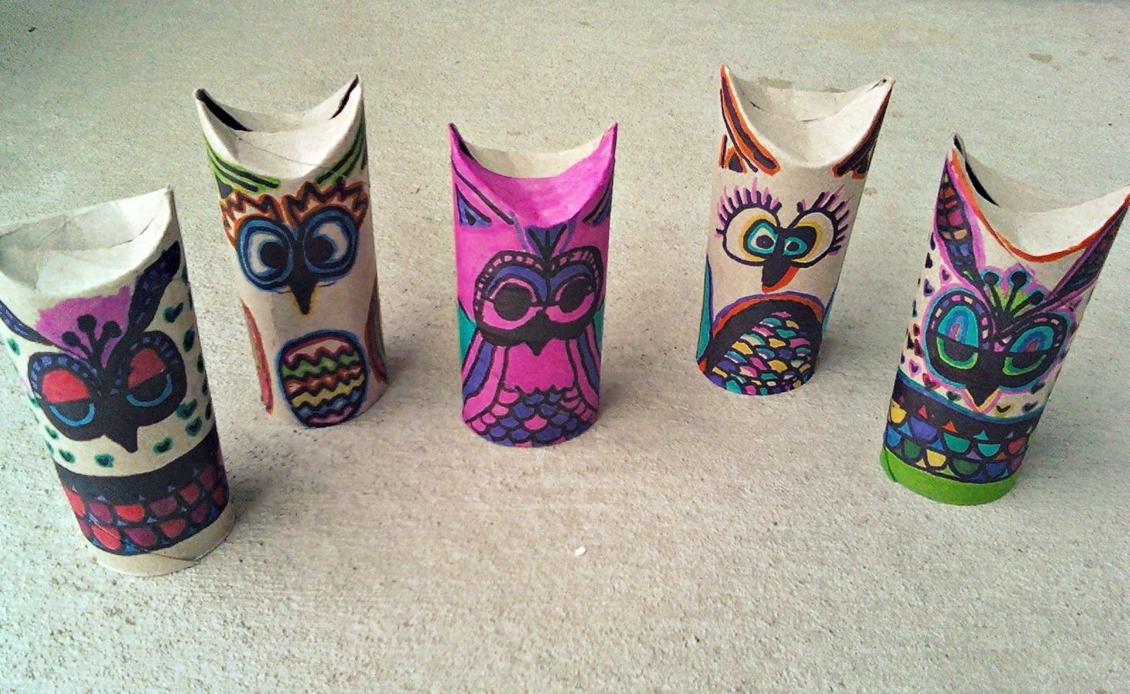 Toilet paper art on pinterest toilet paper rolls toilet for Toilet paper tube owls