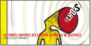 Portes Ouvertes Ateliers Artistes Belleville Echos 2013 artistes artisans