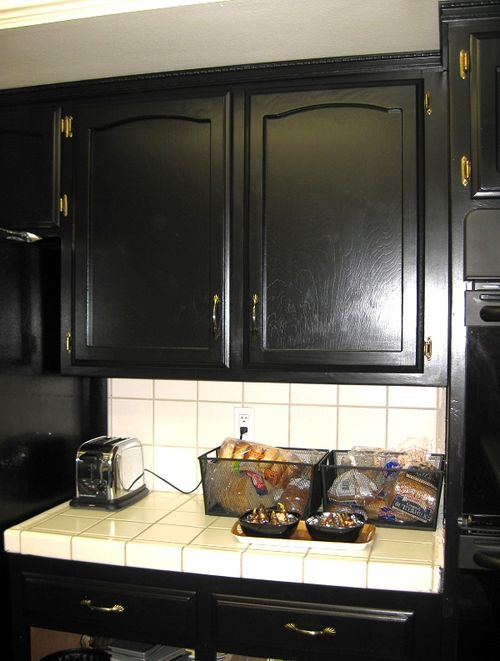 related to painted black kitchen cabinets