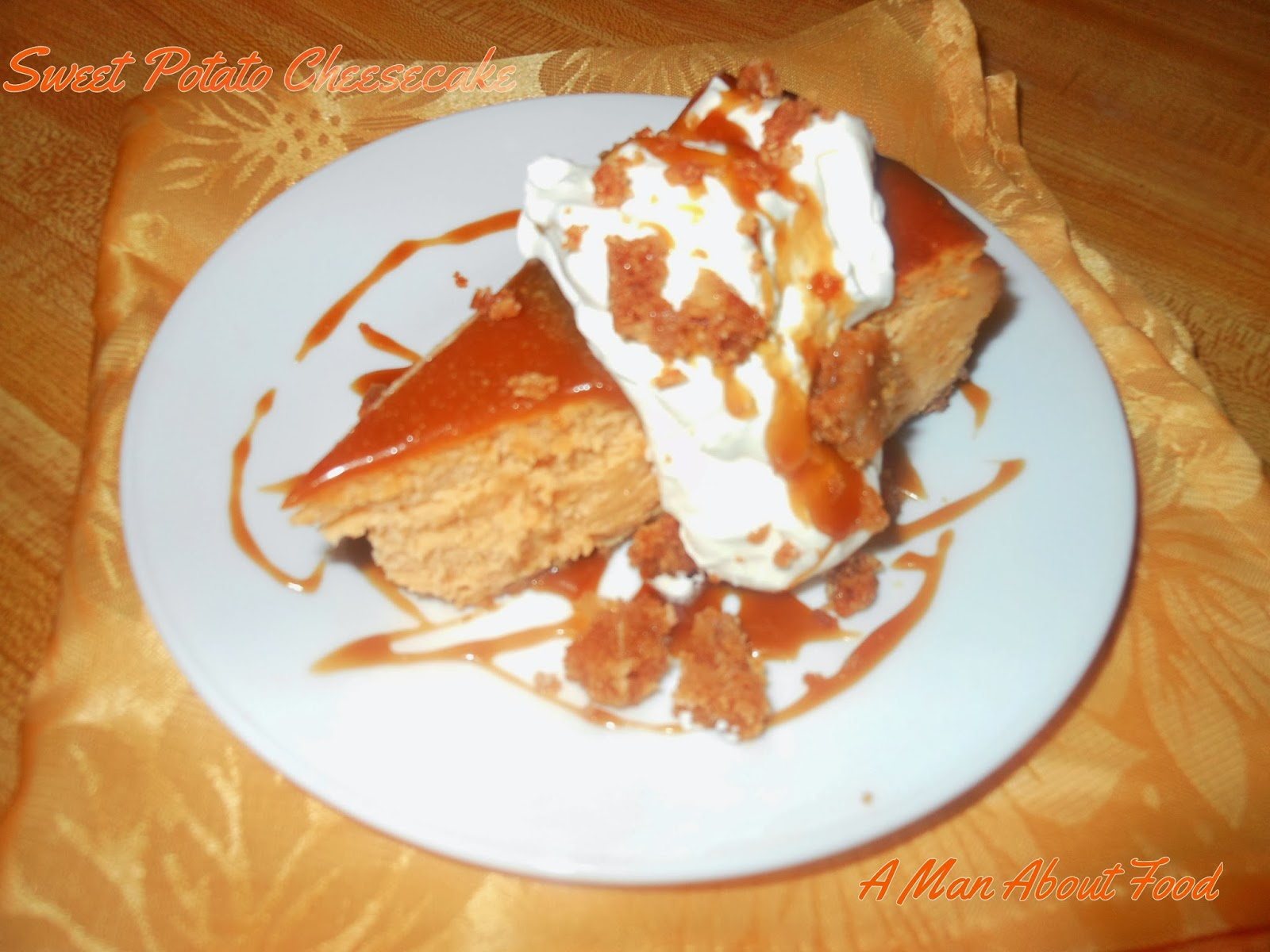 Man About Food: Sweet Potato Cheesecake
