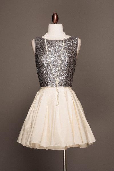 Silver style dress for women 2013