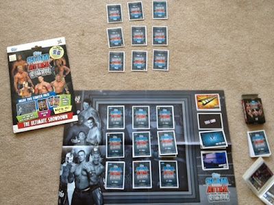 WWE Slam Attax game setup to play