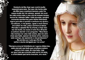 Mãe Santíssima, rogai por nós!