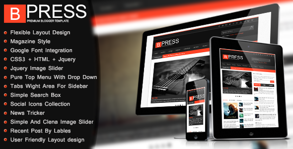 Bpress - Magazine Responsive Blogger Template