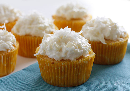 ... Again Friends...: Gina's Pina Colada Cupcakes/ Weight Watchers Recipe