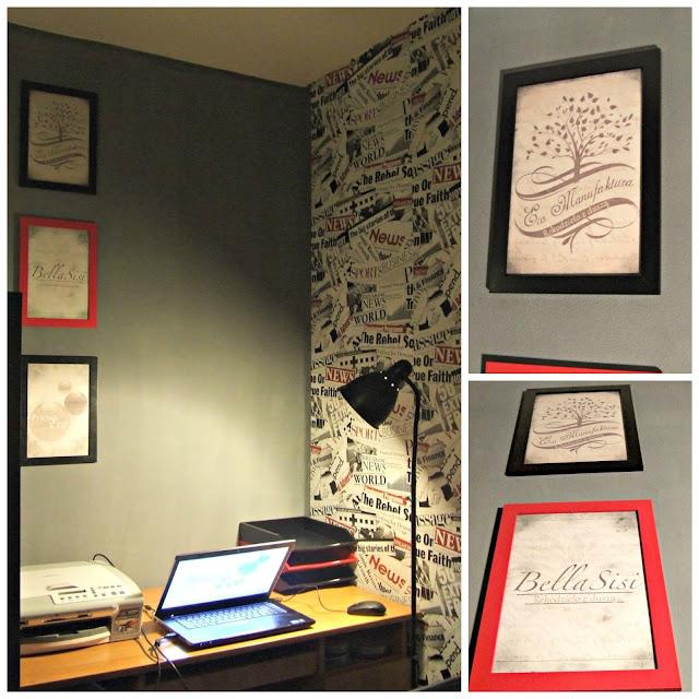 inspiracja na ozdobienie gabinetu w domu DIY Eco Manufaktura