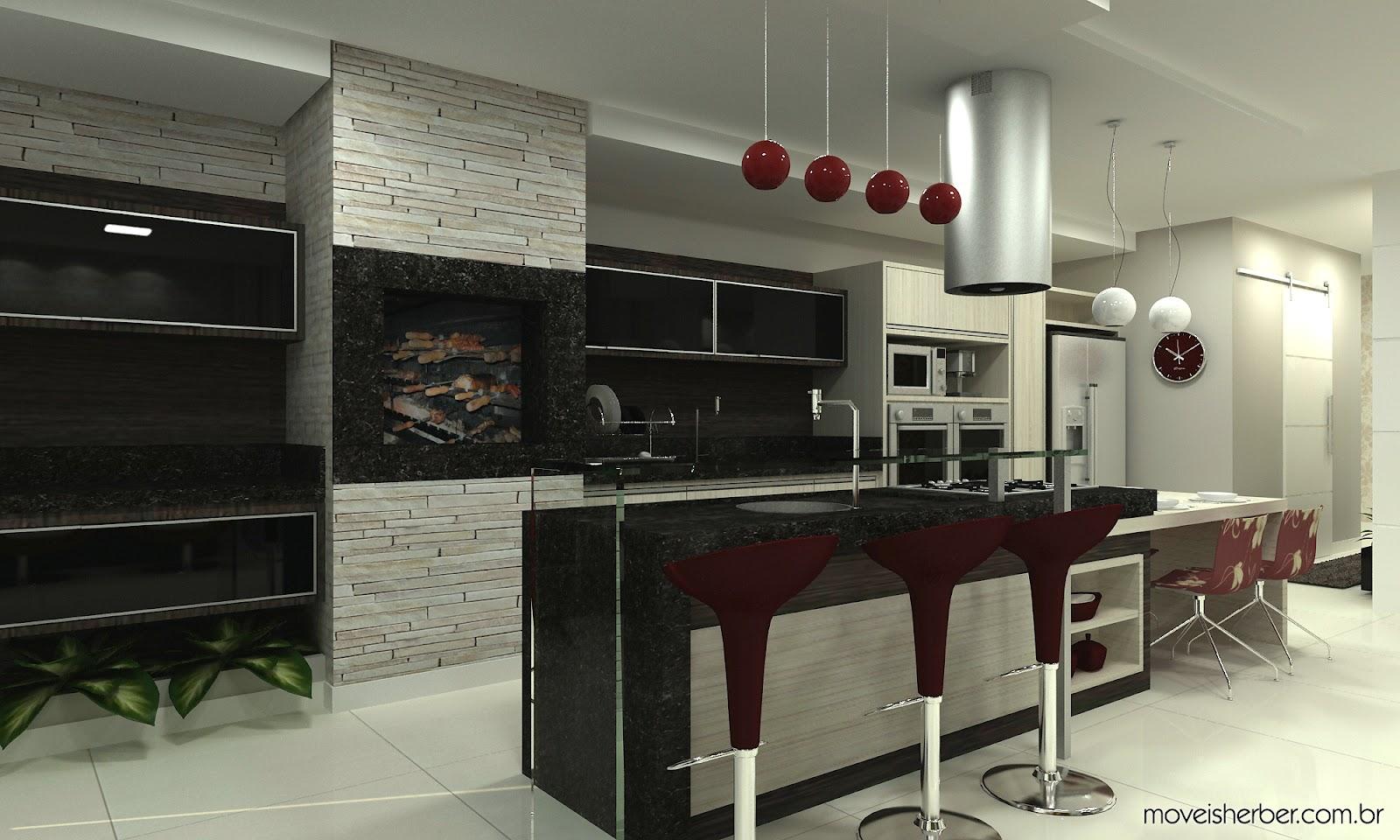 #7D814A Projeto: Cozinha Gourmet :: 1600x960 px Projeto Cozinha U #2709 imagens
