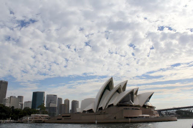 sailing tall ships on beautiful sydney harbour opera house