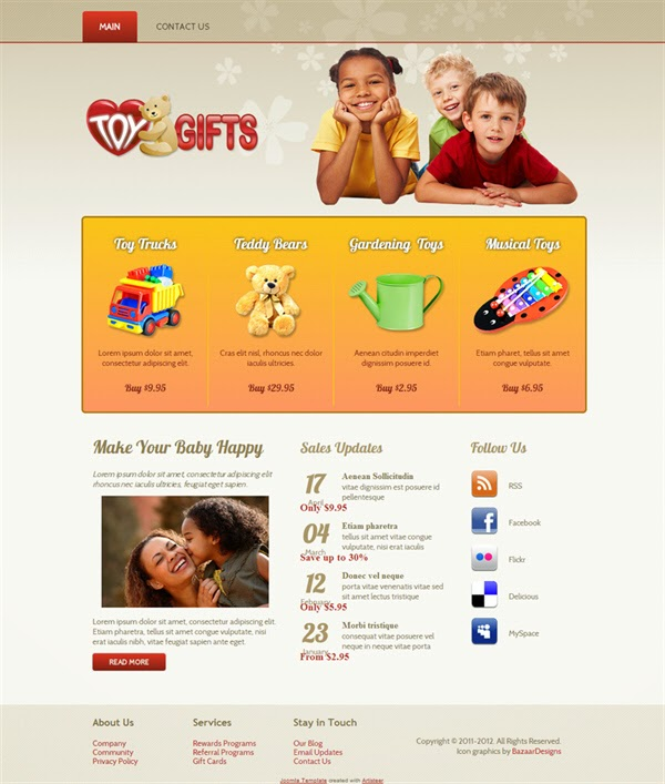 Toy Gifts - Free Joomla! Template