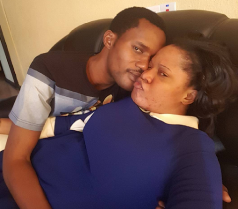 Toyin Aimakhu's new Beau shares photo of them together , Loving up.