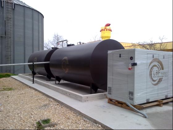 impianto di cogenerazione a biomasse vegetali da 100 Kw