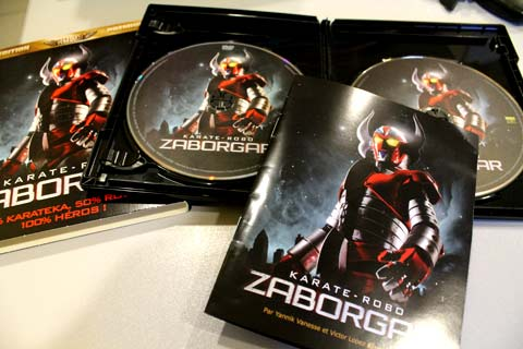 karate robo zaborgar, le combo DVD bluray