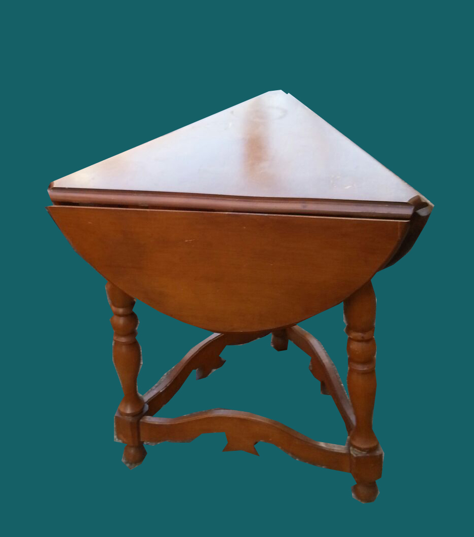 Good Triangular Drop Leaf Occasional Table  SOLD
