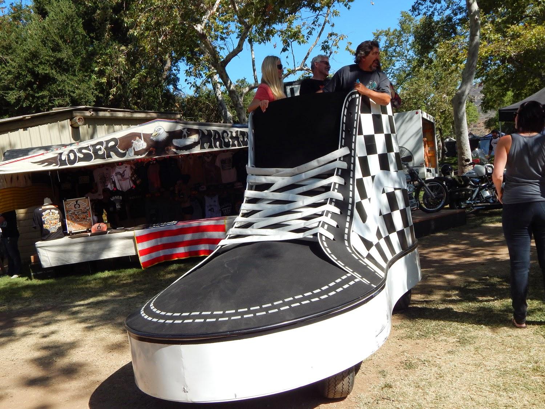 Van gym shoe golf cart
