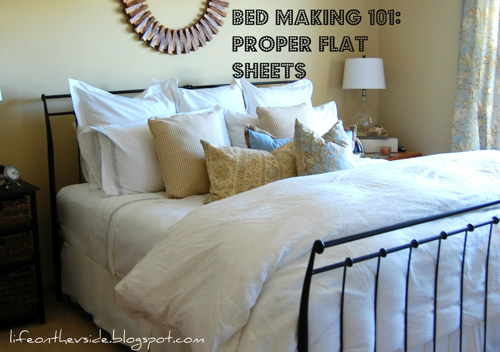 Bed Making 101: The Great Debate And The Skinny On Sheets [Which Way Does  The Flat Sheet Go?]