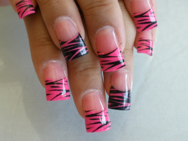 How to do Zebra Nail Design