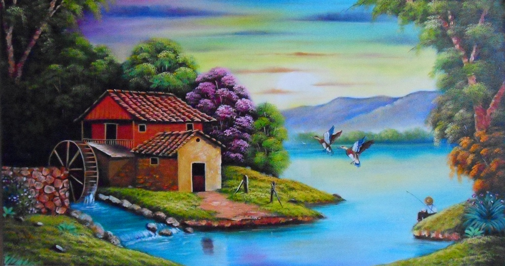 Imágenes Arte Pinturas: Cuadros de paisajes fáciles para pintar al ...