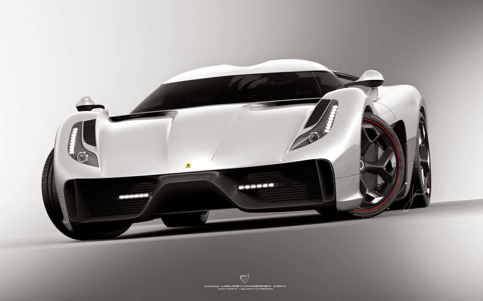Wallpaper  Ferrari F6 White