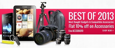 Best of 2013 Gadgets & Accessories: Get Flat 10% additional off on Most Bought  at HomeShop18