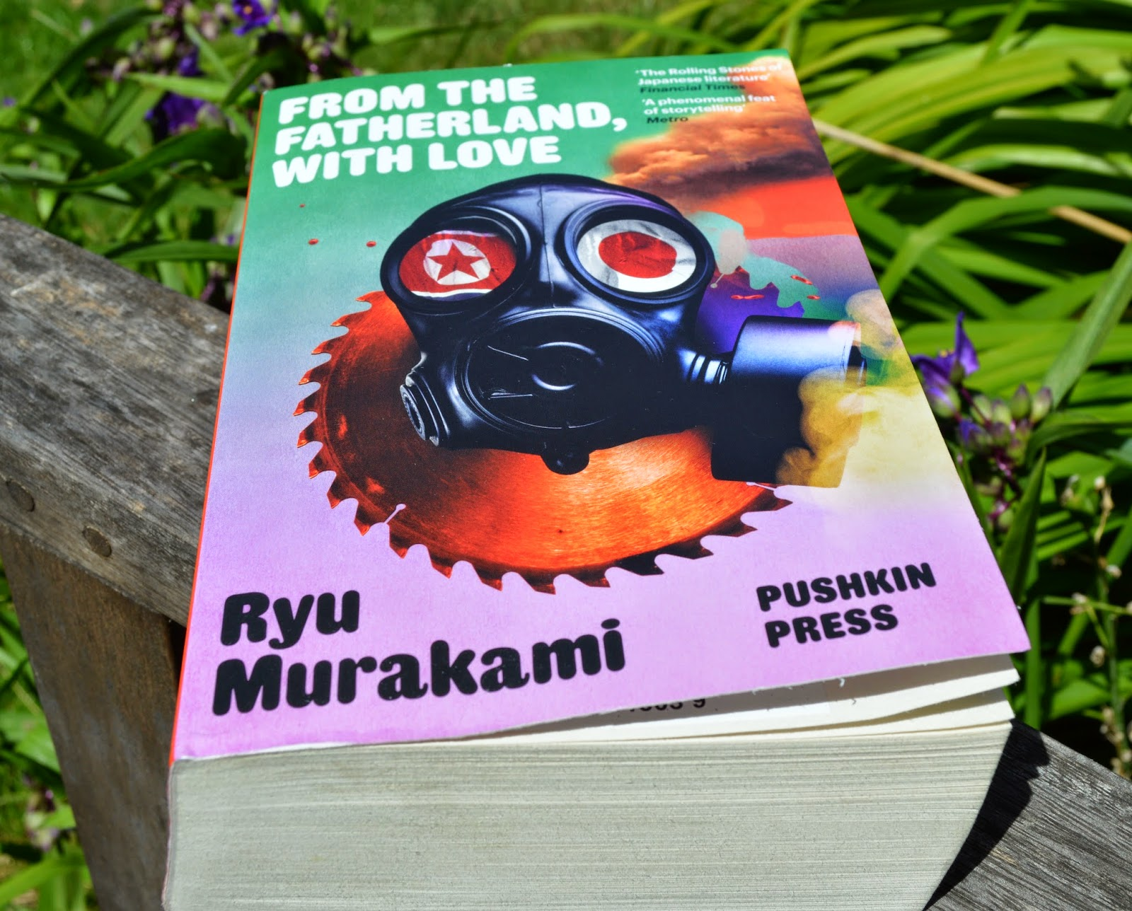 photo, photograph, book cover, paperback, UK edition,  Ryu Murakami, From the Fatherland with Love, Japan, speculative fiction, North Korea,