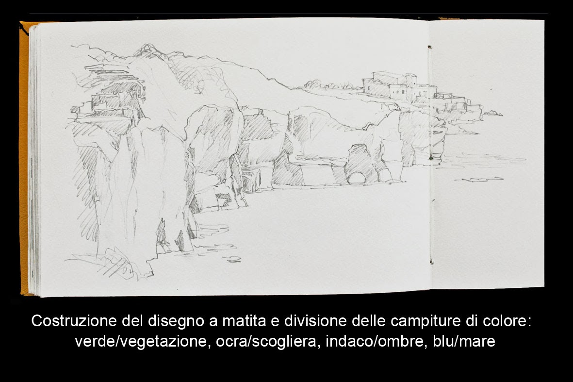 Lorenzo Dotti Sketcher Esercizio N1 Dipingere Mare E Scogliere