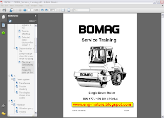 Bomag workshop manual