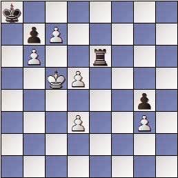 Estudio de Francesc Vivas Font, El Ajedrez Argentino 1950, posición después de 10.Rc5