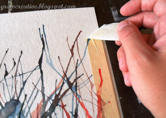 Grow creative blog straw painting art tutorial for Abstract watercolor painting tutorial