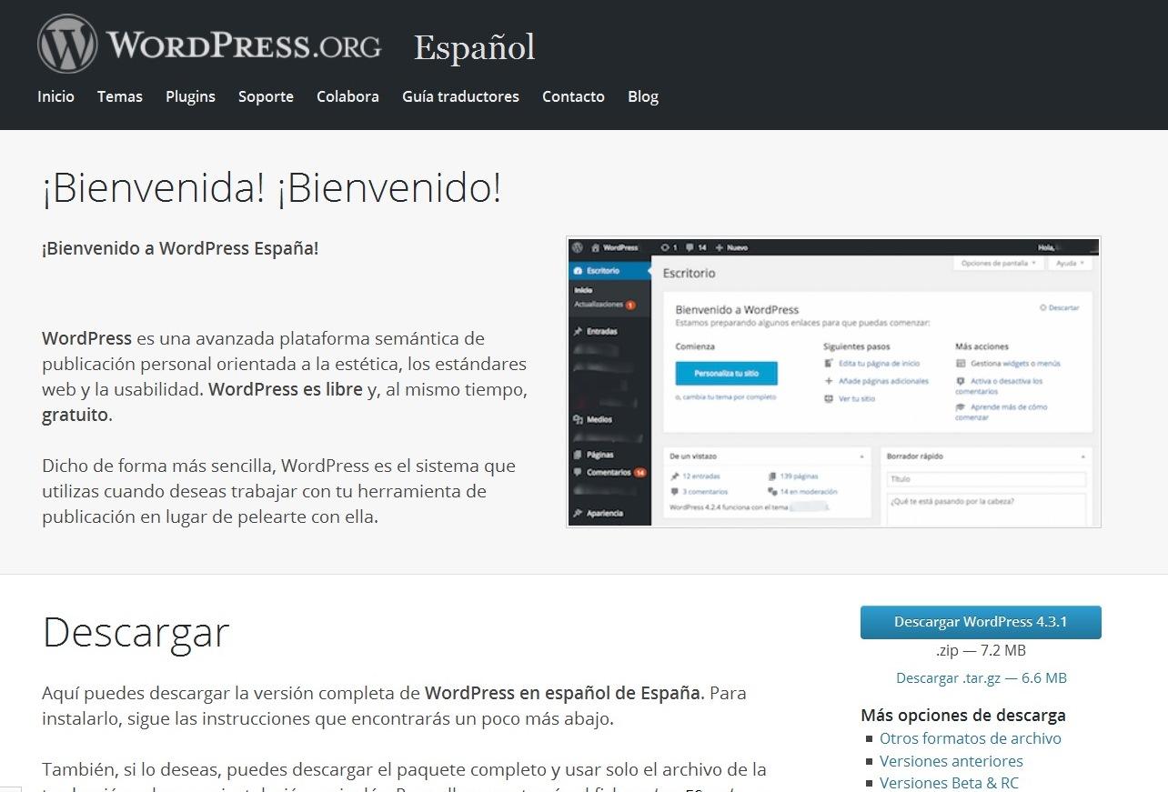 Instalar wordpress descargar wordpress