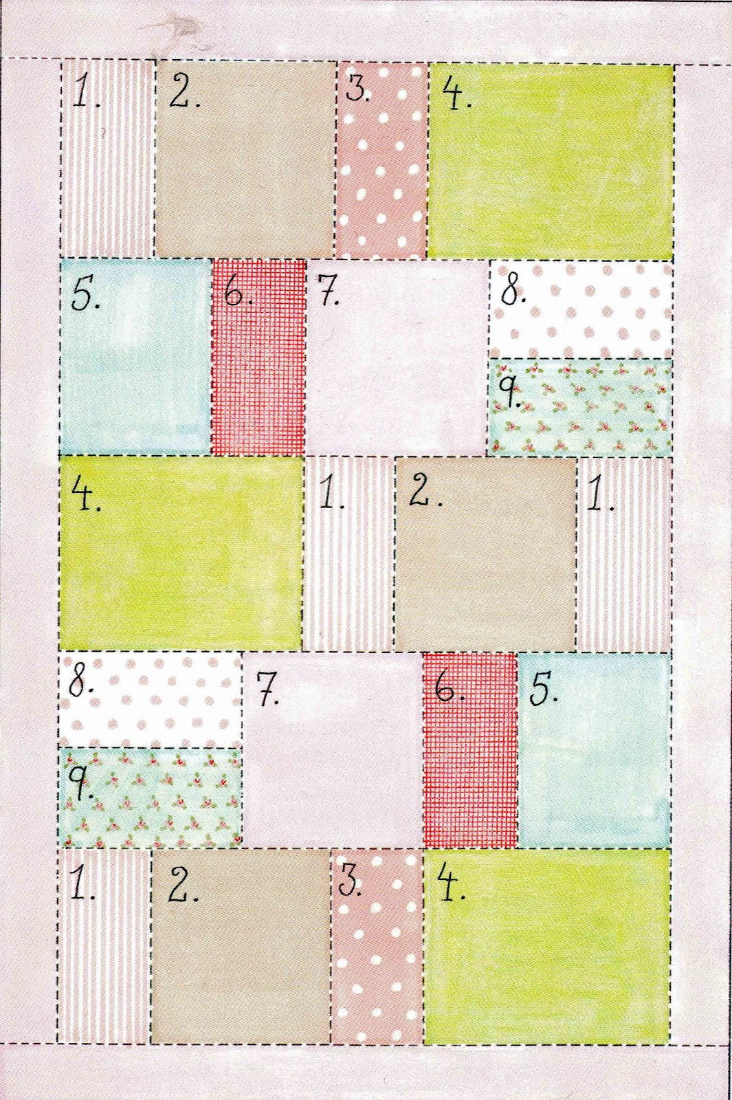 Ulla 39 s quilt world quilted tilda blanket houses for House pattern