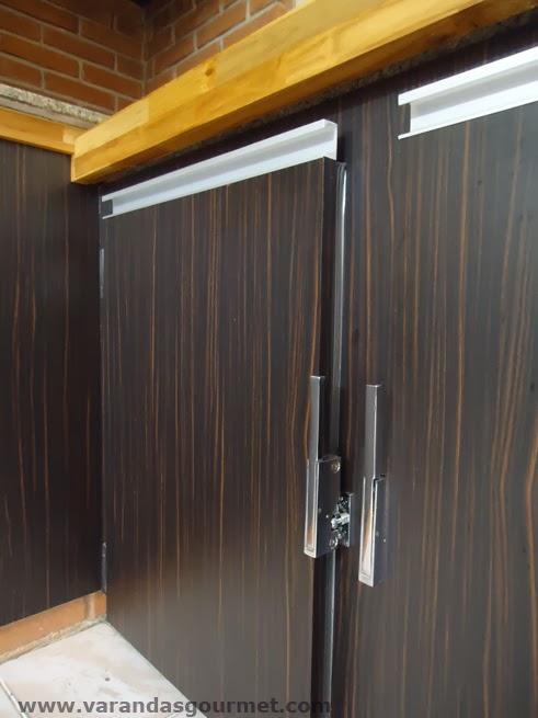 detalhe das portas refrigeradas
