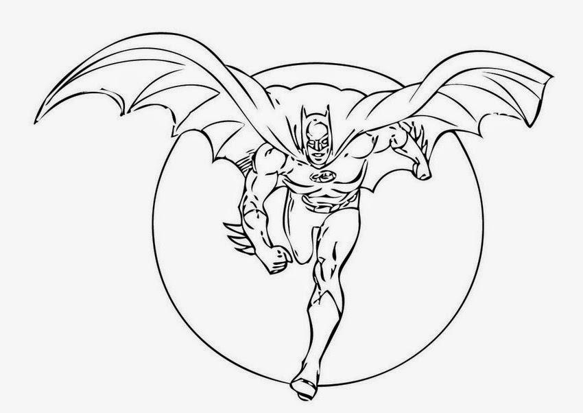 Gambar Mewarnai Batman