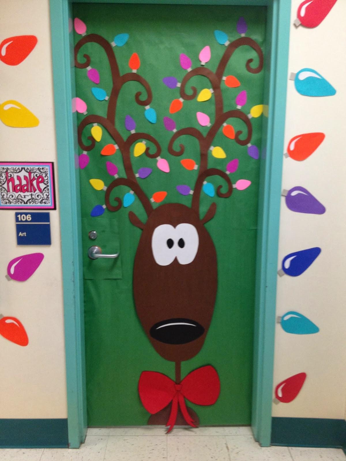 de decoração de porta de natal para deixar a entrada para sua sala