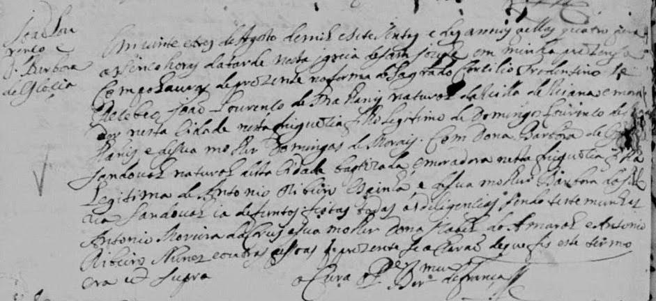 Bárbara de Escócia Sandoval - 1710