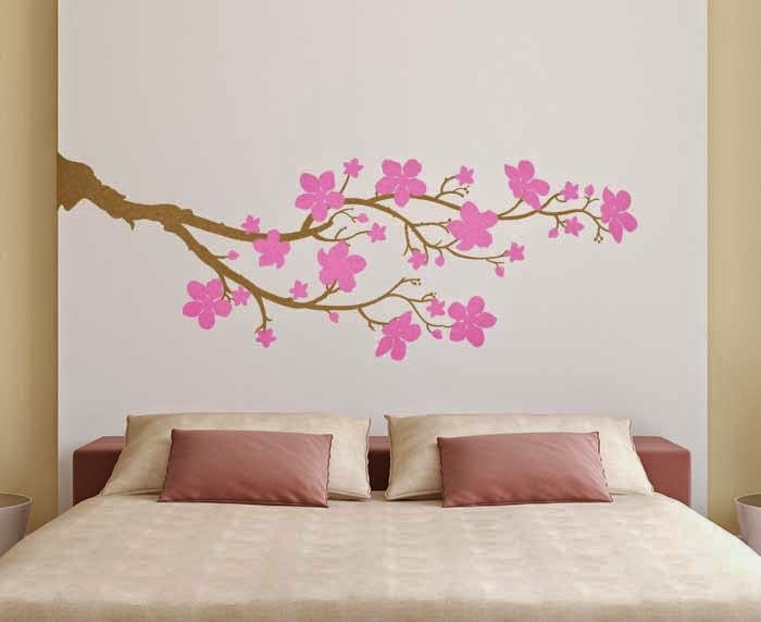 Awesome Cherry Blossom Branch Wall Decal